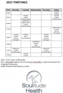 Challenge Timetable